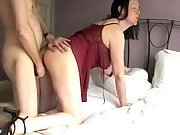 Hot milf sexy lingerie wife ass cum hot milf red lingerie
