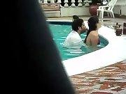 Pool fuck public fucking swimming pool