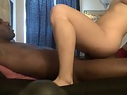 Horny blonde sucks bbc amateur interracial tits sucking