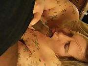 Tattooed wife used bbc cuckold dick fucked