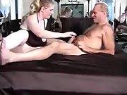 Busty cuckold sex hairy man mature big wife hubby sucking