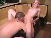 Amateur blond fucked blonde pussy licked kitchen amateur