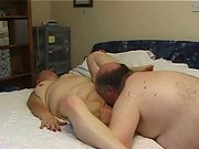 Mature chubby couple homemade porn oral sex fucking plump