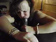 Nasty wife huge black cock slutty mature sloppy head bull