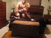 Sexy redhead wife fun hubby shared sexy body