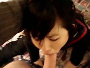 Dick mouth asian babe sucking big stretch tight pussy big