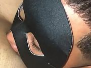 Interracial mask hardcore sucking fucking