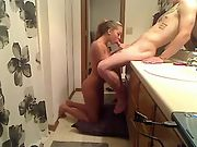 Shooting girlfriend bathroom sucks fuck